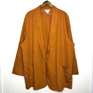 Vintage Sellecca Orange and Gold Oversized Blazer